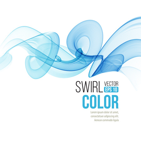 Abstract smooth color wave vector. Curve flow blue motionline. Smoke design. Vector illustration EPS10
