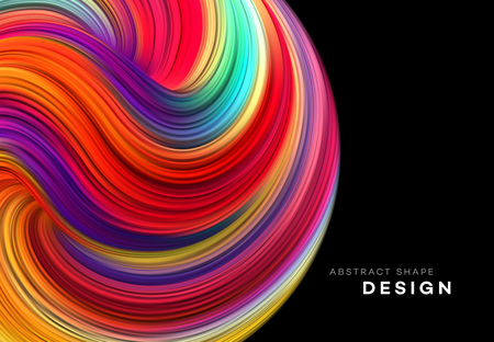 Color Flow Abstract shape poster design. Vector illustration EPS10 Banco de Imagens - 126088835
