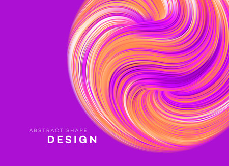 Color Flow Abstract shape poster design. Vector illustration Banco de Imagens - 125287125