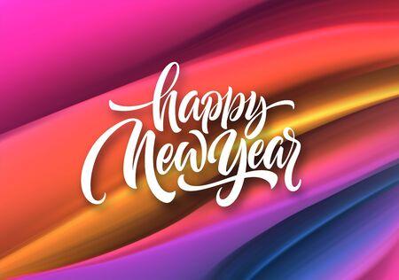 Happy New Year 2020. Lettering greeting inscription. Vector illustration Stock fotó - 126107894