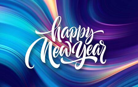 Felice Anno Nuovo 2020. Iscrizione di saluto dell'iscrizione. Illustrazione vettoriale Eps10 Vettoriali