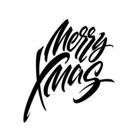 Merry Christmas hand drawn calligraphy