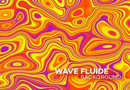 Modern poster with 80 s wave pattern. Abstract music pulse background. Trendy modern style. Rainbow color. Trendy gradient line style vector illustration. EPS10 Ilustrace