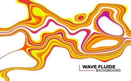 Modern poster with 80 s wave pattern.