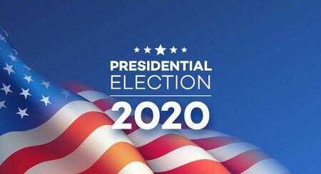 American Presidential Election 2020 background design. Vector illustration Vettoriali