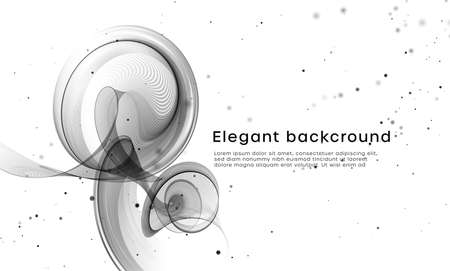 Elegant white background with black wave vibes drips flow. Vector illustration