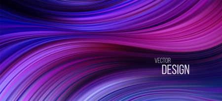 Full color flow wave trendy background. Background for presentation, brochure, booklet, poster. Vector illustration