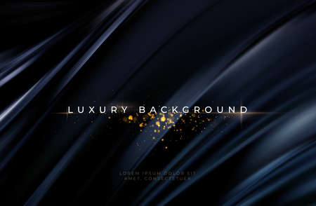 Black silk flowing wave luxury trendy background. Background for presentation, brochure, booklet, poster. Vector illustration