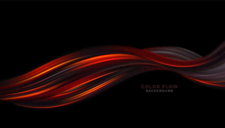 Color flow background for cover design. Graphic color background. Colorful dynamic wave flow. Vector illustration
