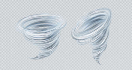 Realistic tornado swirl. Real transparency effect. 向量圖像