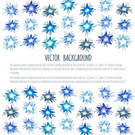 christmas star background: Christmas background with star element. New Year card with place for your text. Illustration