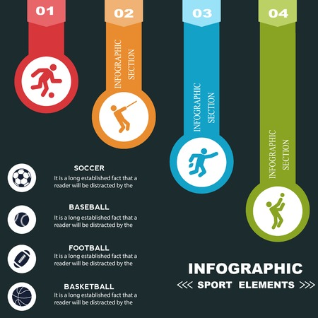 health technology: Sports infographics optional banners.