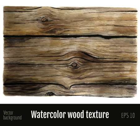 Watercolor wood texture background.