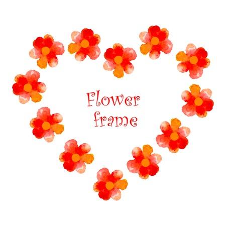 Cadre d'aquarelle avec des fleurs et papillons. Banque d'images - 45857312