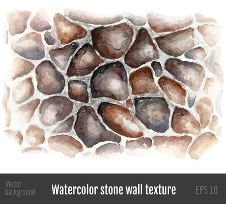 fortified: Watercolor stone wall texture.