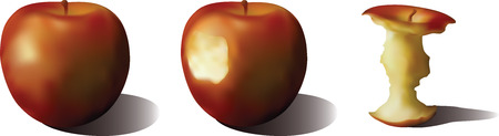 incompatible:   Three apples Illustration
