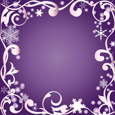 Abstract winter background with snowflakes.  Vector