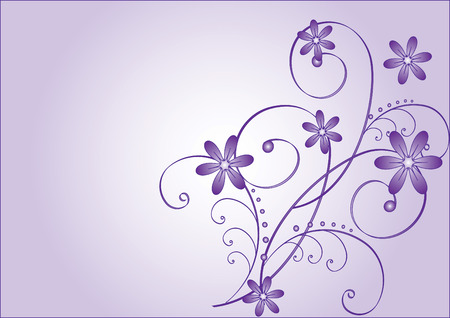 Abstract flowers on a purple background. Stock Vector - 6484089