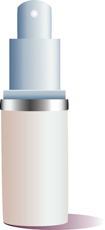 Isolated Cosmetic on a white background.  Vector