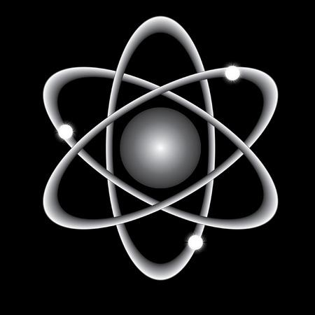 atomique: atome abstrait sur un fond noir.