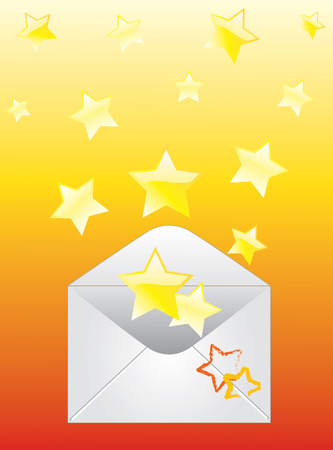 Envelope and the stars. Vector