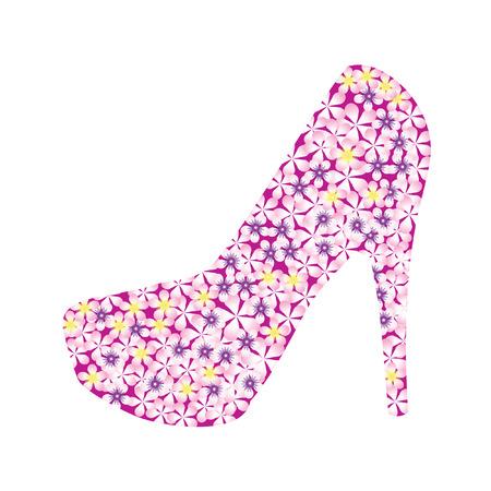 Zapatos, decorados con flores. Foto de archivo - 6771016