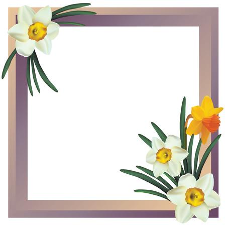 Flower frame. Illustration