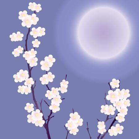 A flowering tree. Vector