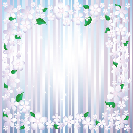 Flower frame. Vector