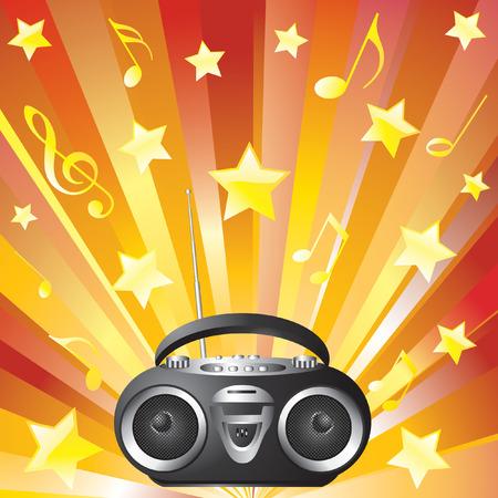 Audio mini-system, radio, player Stock Vector - 6908061