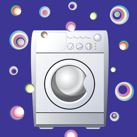 laundry washer: M�quina de lavar. Vectores