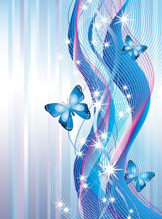 mo�os rosas: Fondo con mariposas