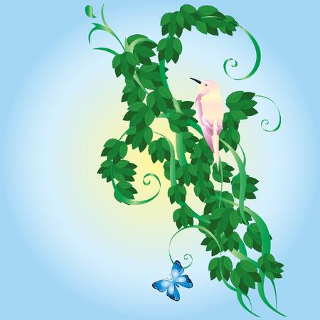 autonomic: Ornamento con foglie verdi.