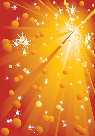 Background with stars and rays. Vector