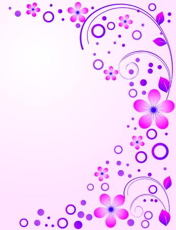 Flower ornament. Illustration