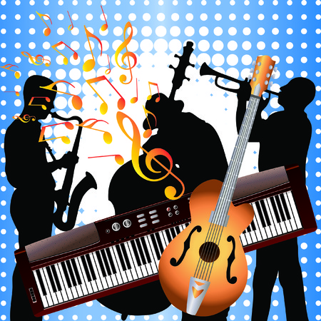 Musicians and musical instruments. Stock Vector - 7133517