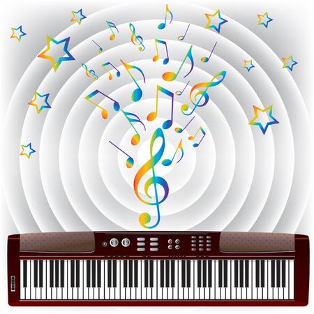 Electronic piano. Stock Vector - 7174061