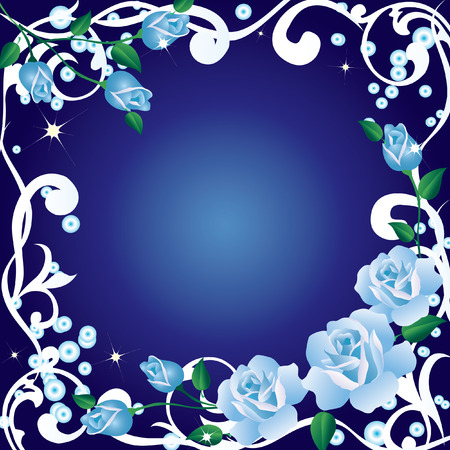 Frame with roses. Vector