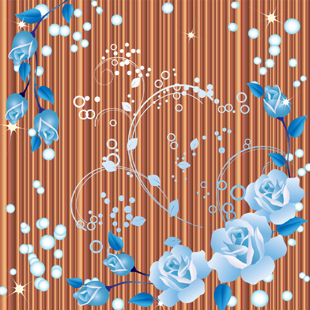 background with roses. Vector