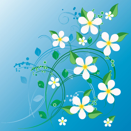 abstract flowers: Flower ornament. Illustration