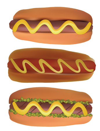 synopsis: Hotdogs. Illustration