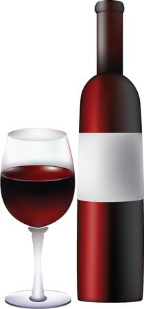 red wine. Vector