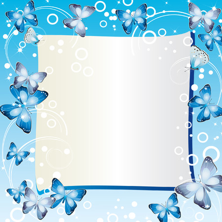 Frame with butterflies.