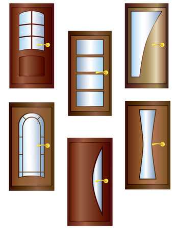 glass door: Doors. Illustration