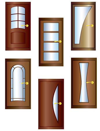 glass doors: Doors. Illustration
