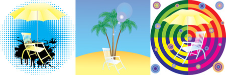 Abstract background with a beach. Stock Vector - 7502592