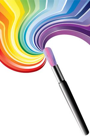 Art brush. Vector