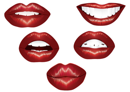lipstick kiss: Lips.