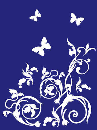 Ornament with butterflies Vector