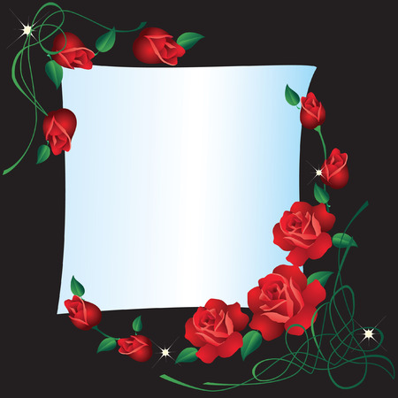 background with roses. Stock Vector - 7896706